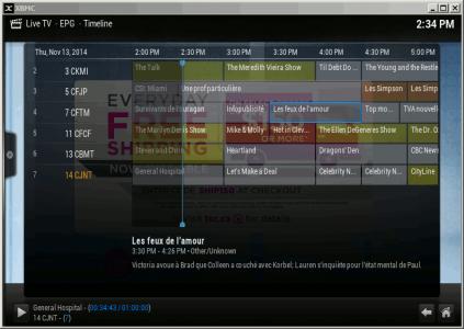 XBMC / KODI Live TV EPG