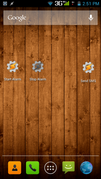 Tasker Shortcut Icons: Start/Stop Alarm