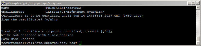 SSH: Build CA Completed