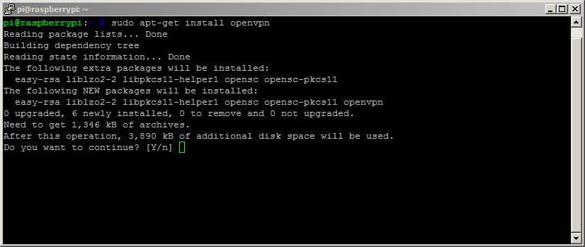 SSH: Installing OpenVPN