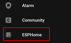 ESPhome Side Bar