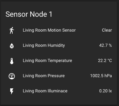Home Assistant Sensor Frontend
