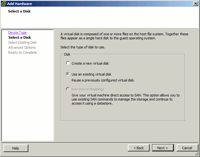 unRAID VM Properties Use Existing Disk