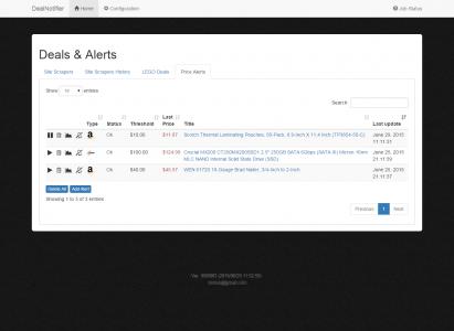 DealNotifier: Price Alerts