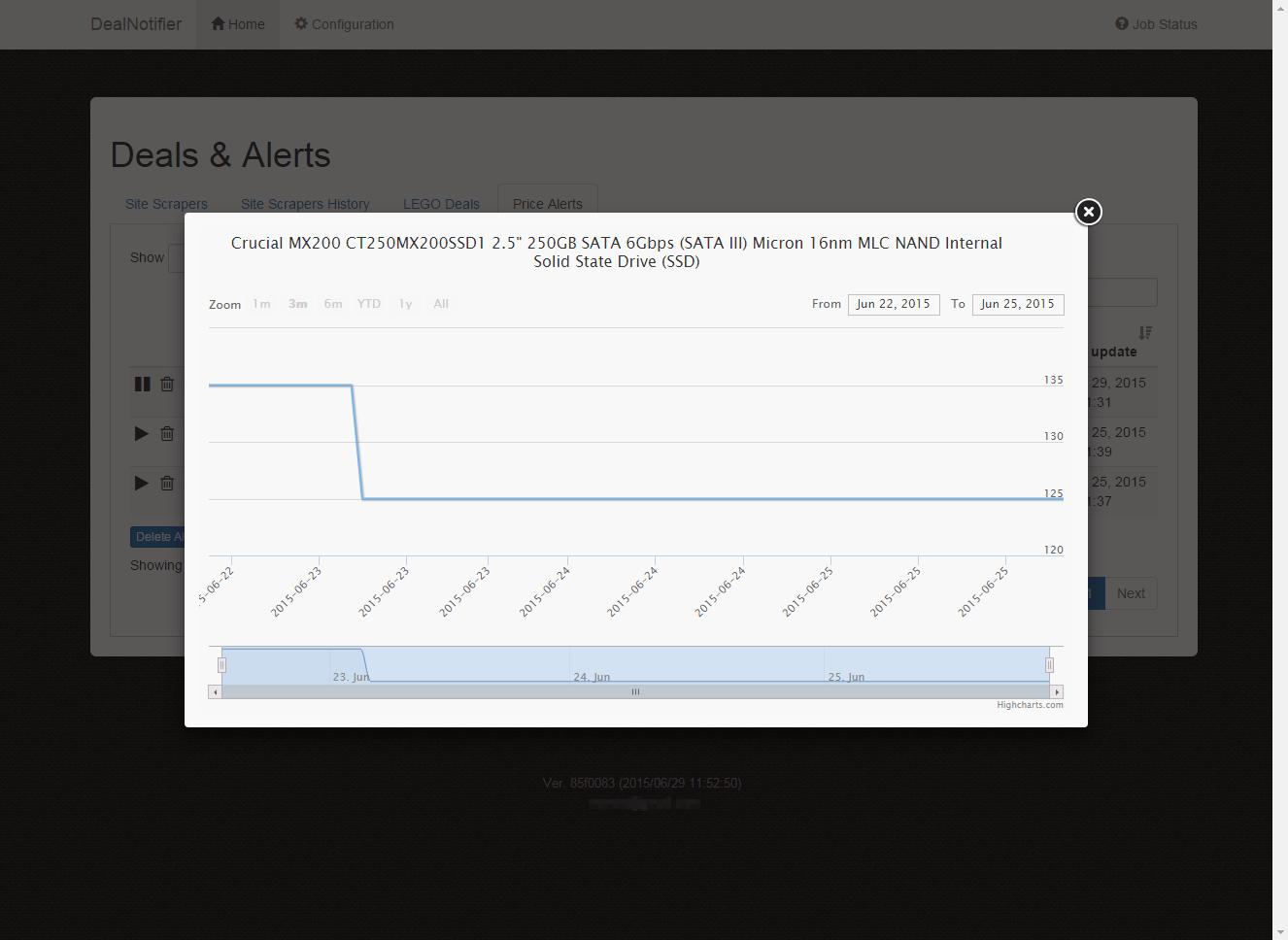 DealNotifier: Price Alerts (Price History Graph)