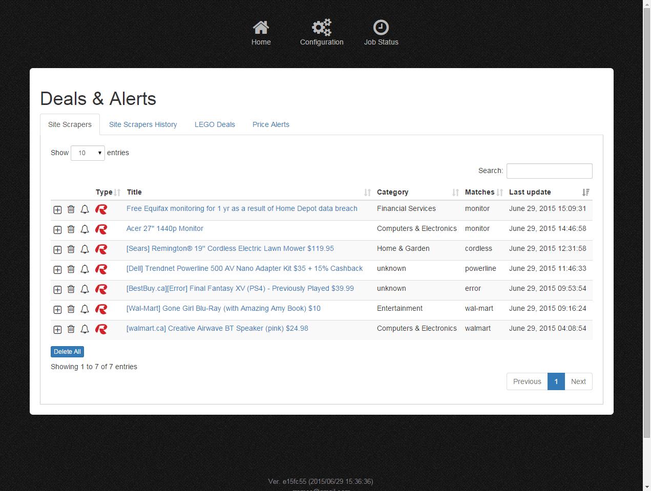 DealNotifier: Site Scrapers